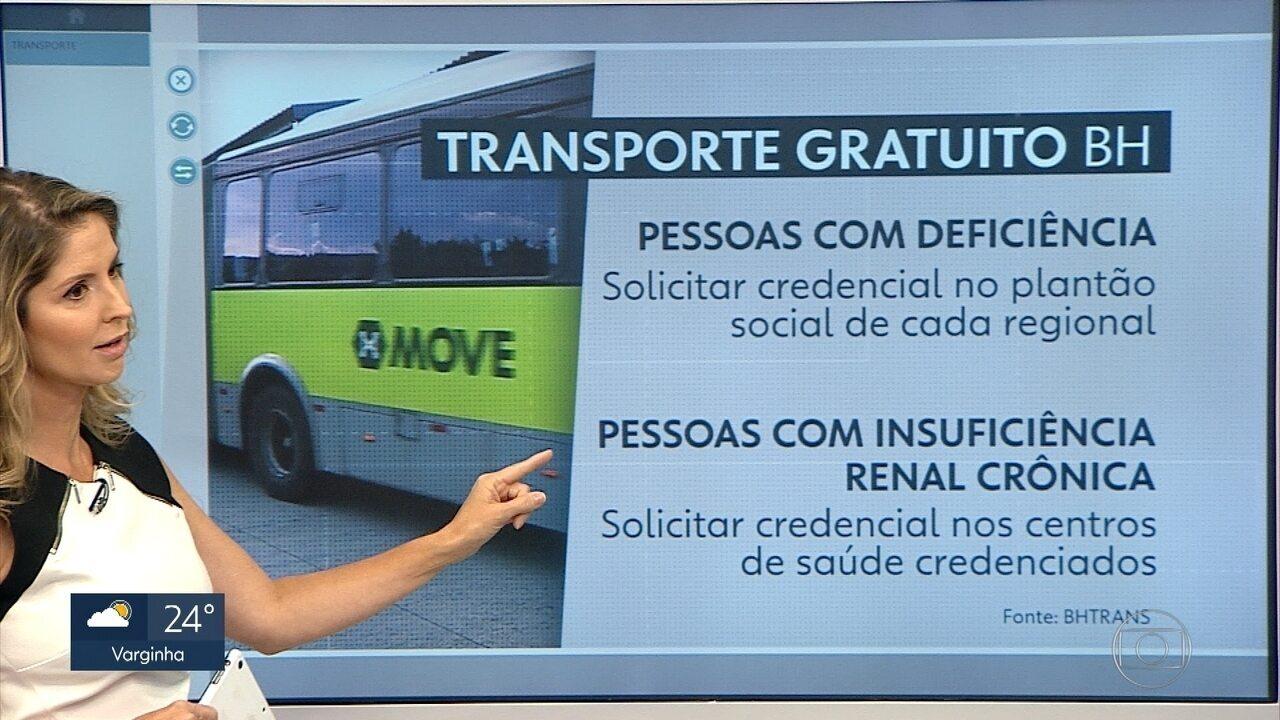 Veja informações sobre o passe livre em Belo Horizonte