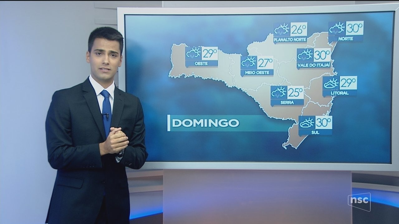 Domingo (18) deve ser de tempo nublado com chance de chuva passageira