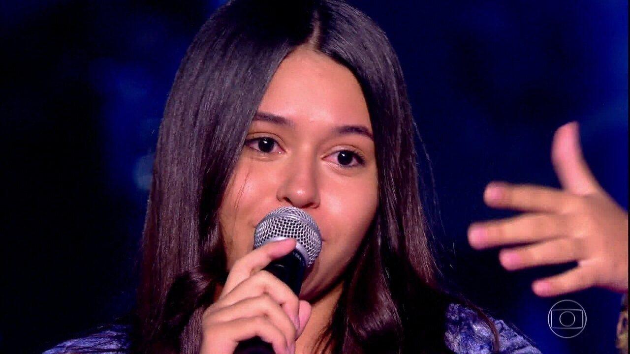 Eduarda Brasil, Rayane Lima e Victória Andrade cantam '126 cabides' no The Voice Kids