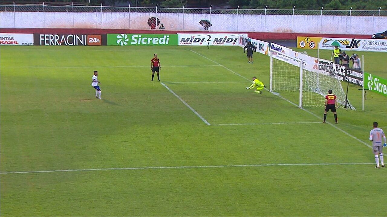 Veja os pênaltis de Foz x Coritiba na semifinal do Paranaense