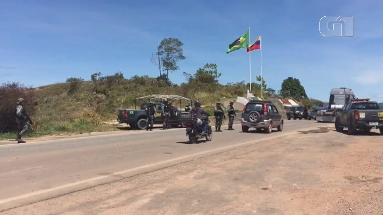 Força Nacional inicia ações na fronteira entre Brasil e Venezuela.