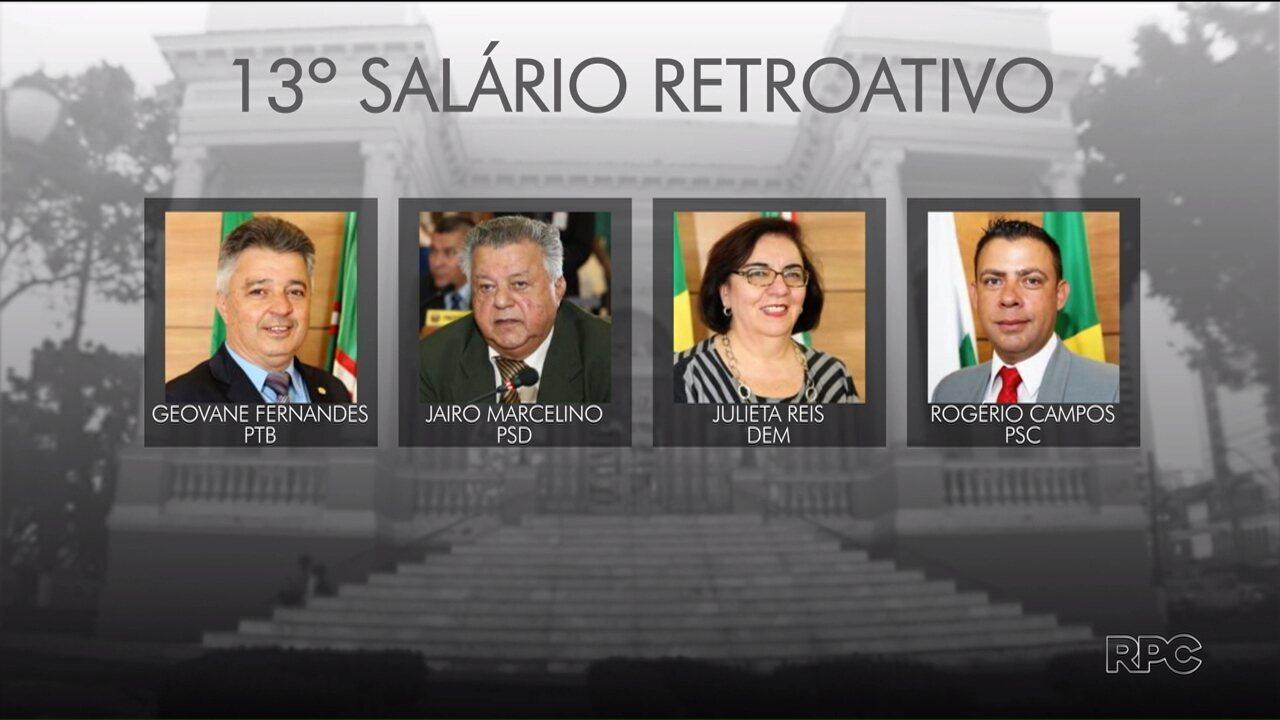 Vereadores e ex-vereadores pedem na Justiça 13º salário retroativo