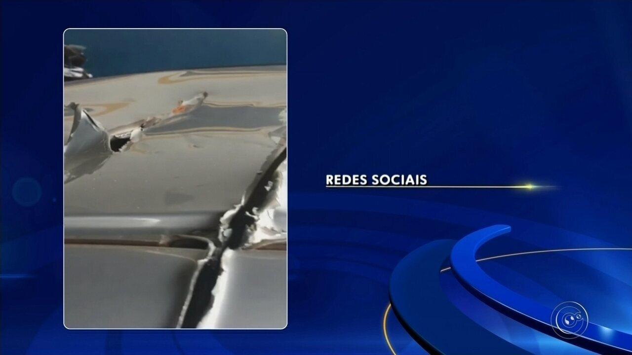 Avião agrícola atinge carro em propriedade rural de Assis