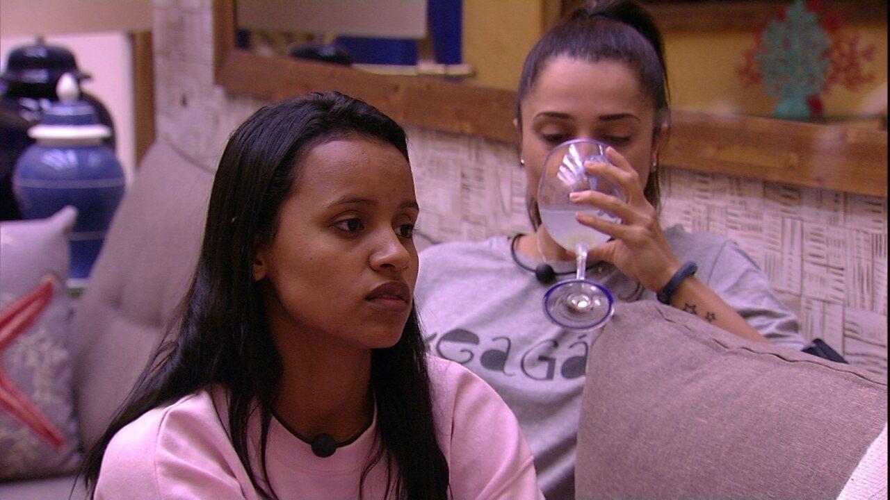 Gleici quer saber se Diego vai imunizar Patrícia com o Anjo