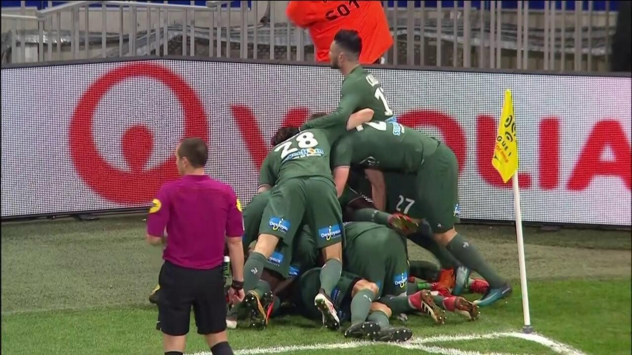 Os gols de Lyon 1 x 1 Saint-Étienne pela 27ª rodada do Campeonato Francês