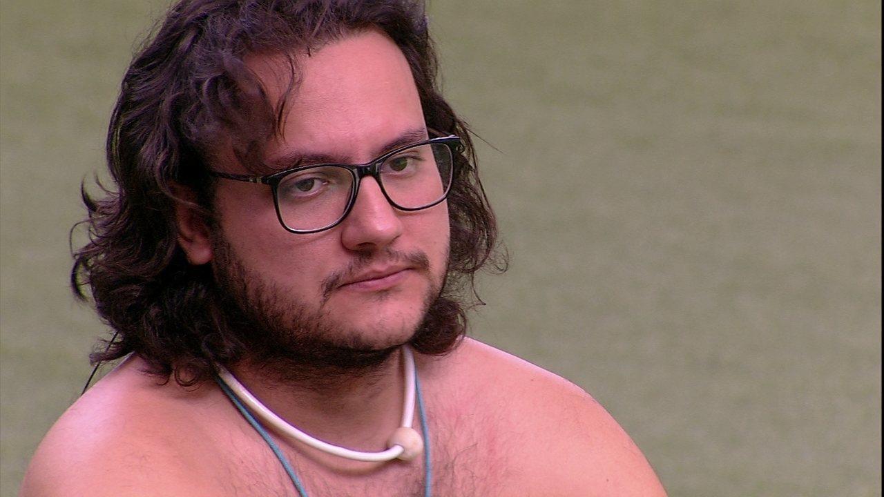 Diego provoca brothers sobre paredão: 'Eu, Lucas e Caruso, o que vocês acham?'