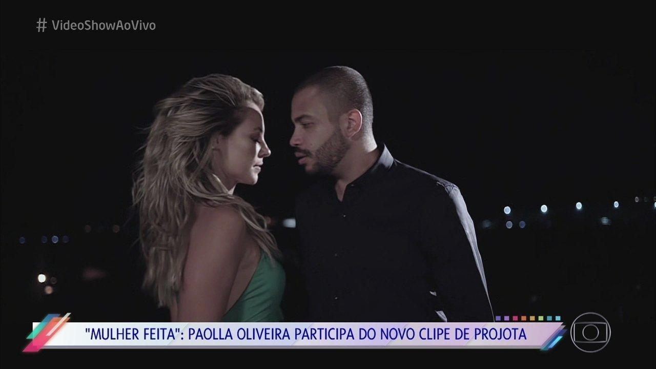 Paolla Oliveira brilha no novo clipe de Projota