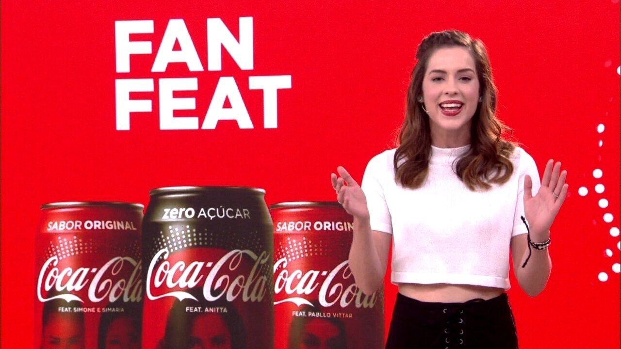 Sophia Abrahão anuncia vencedores do concurso Coca-Cola Fan Feat