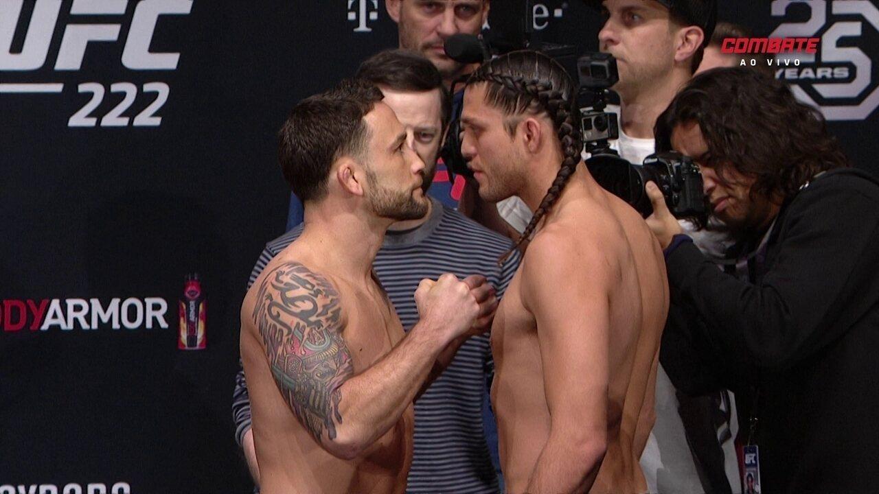 Confira a pesagem de Frankie Edgar x Brian Ortega pelo UFC 222