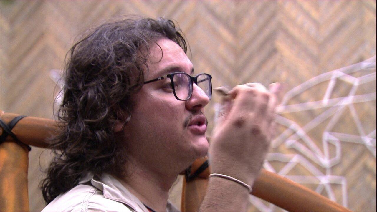 Brothers desenham Paredão entre Mahmoud, Gleici e Paula, e Diego aposta: 'Paula sai'