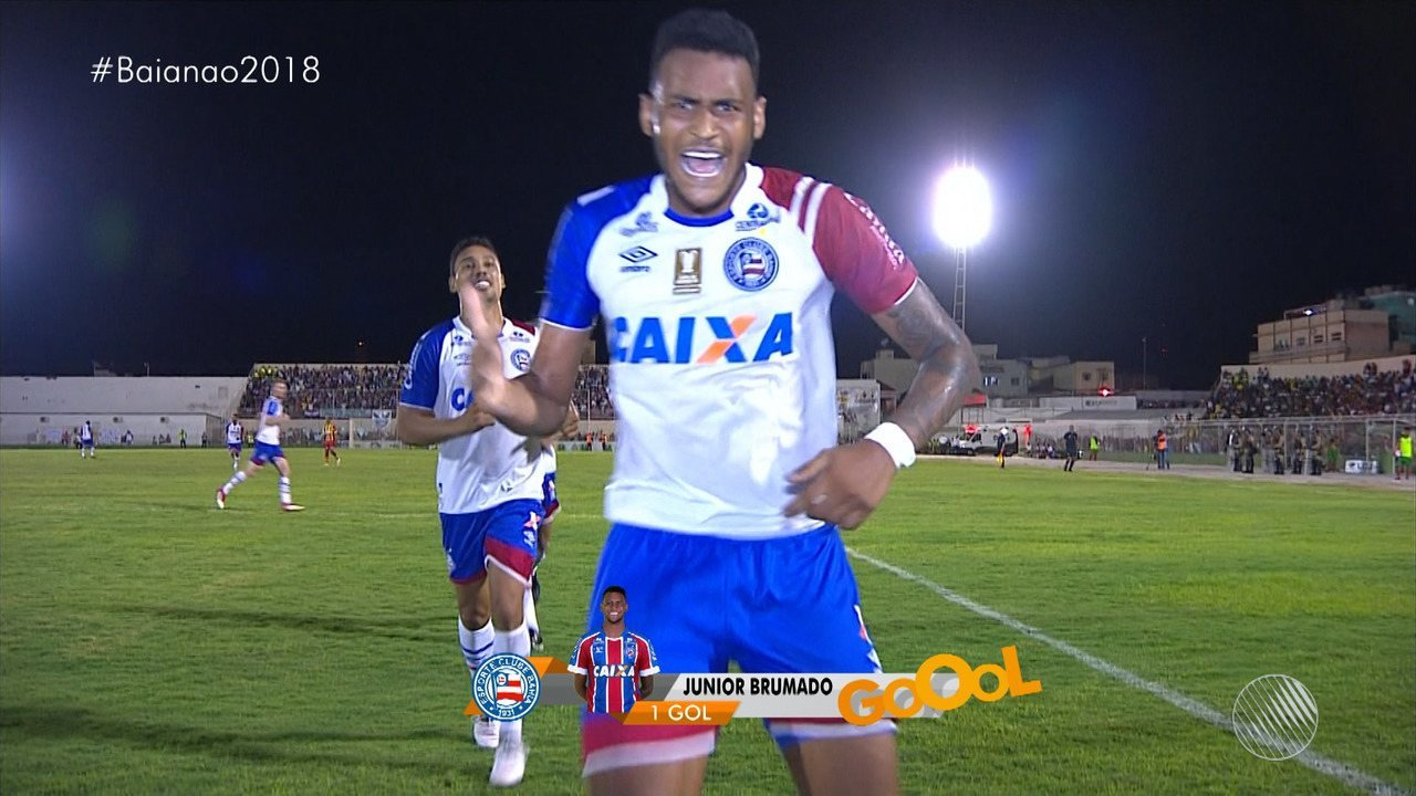 Gol do Bahia! Júnior Brumado amplia o placar para o tricolor, aos 45' do 2º tempo