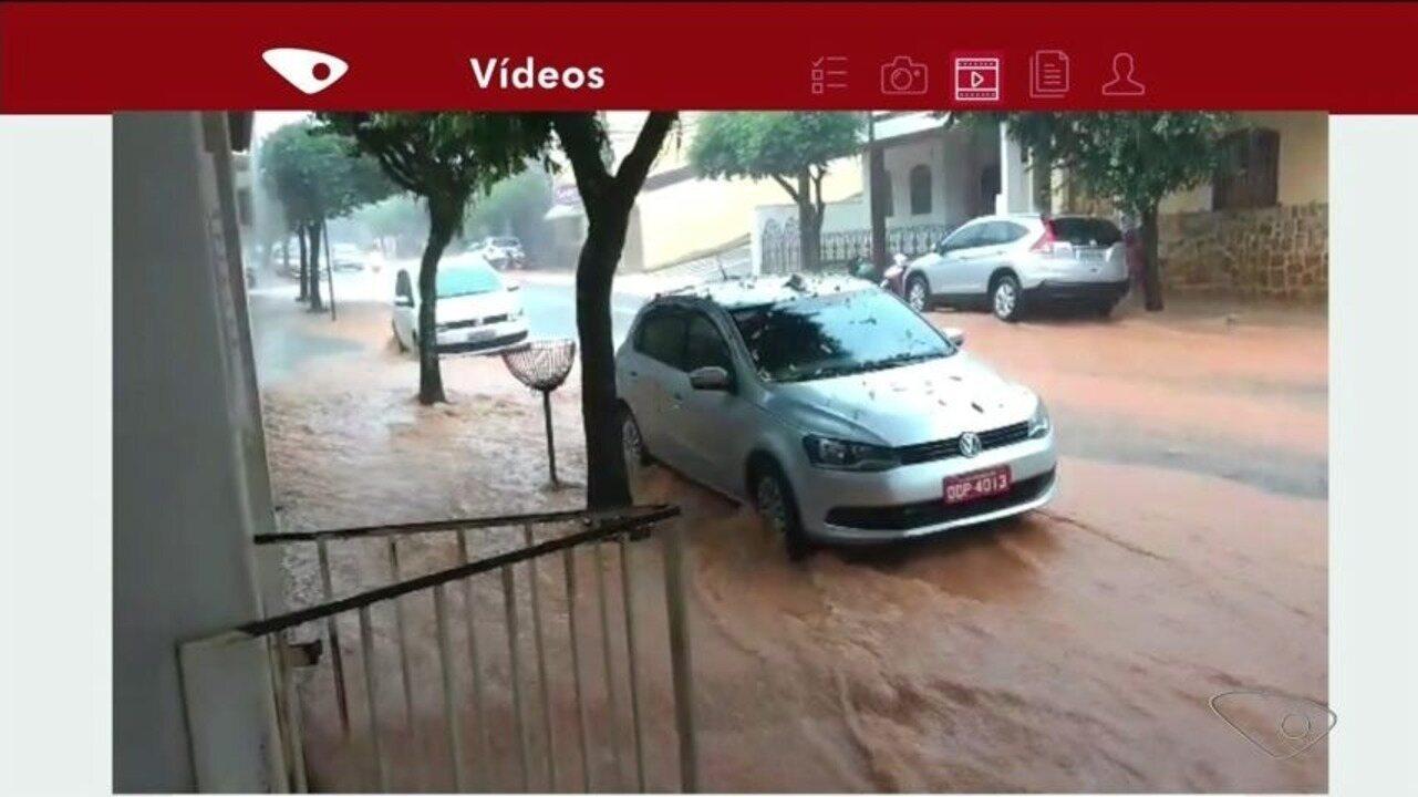 Chuva forte atinge o município de Alegre, no Sul do ES
