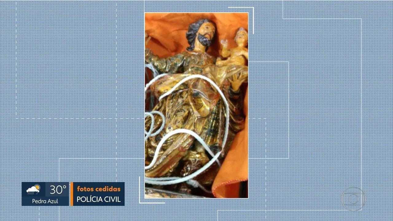 Polícia Civil recupera imagem do século XVIII, roubada em fazenda de Minas