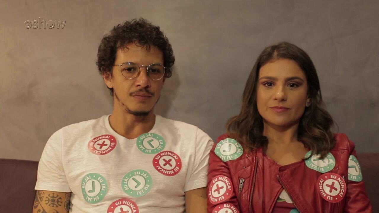 Rafael Losso e Patrícia Elizardo jogam