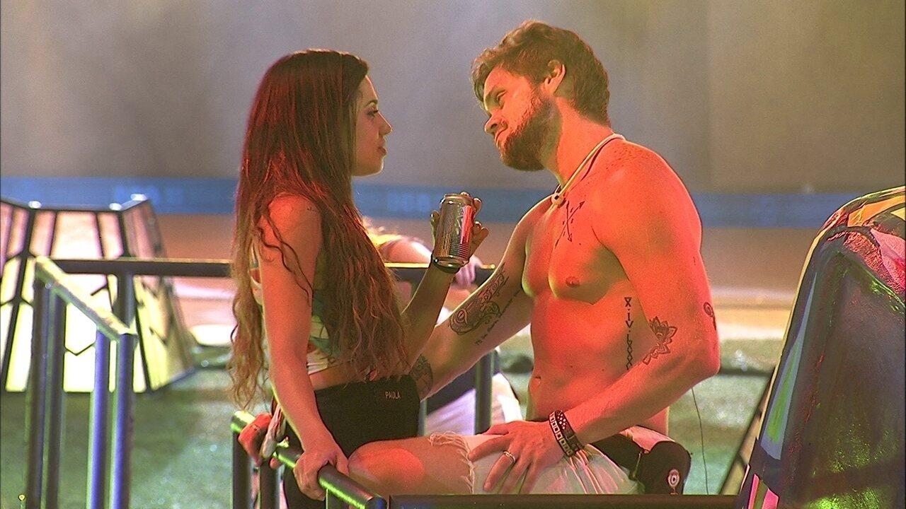 Paula afirma para Breno: 'Não devo nada pra ninguém'