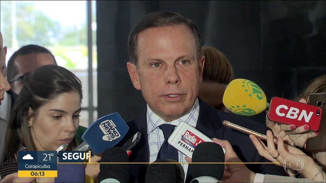Doria recua e altera decreto que garante proteção policial a ex-prefeitos