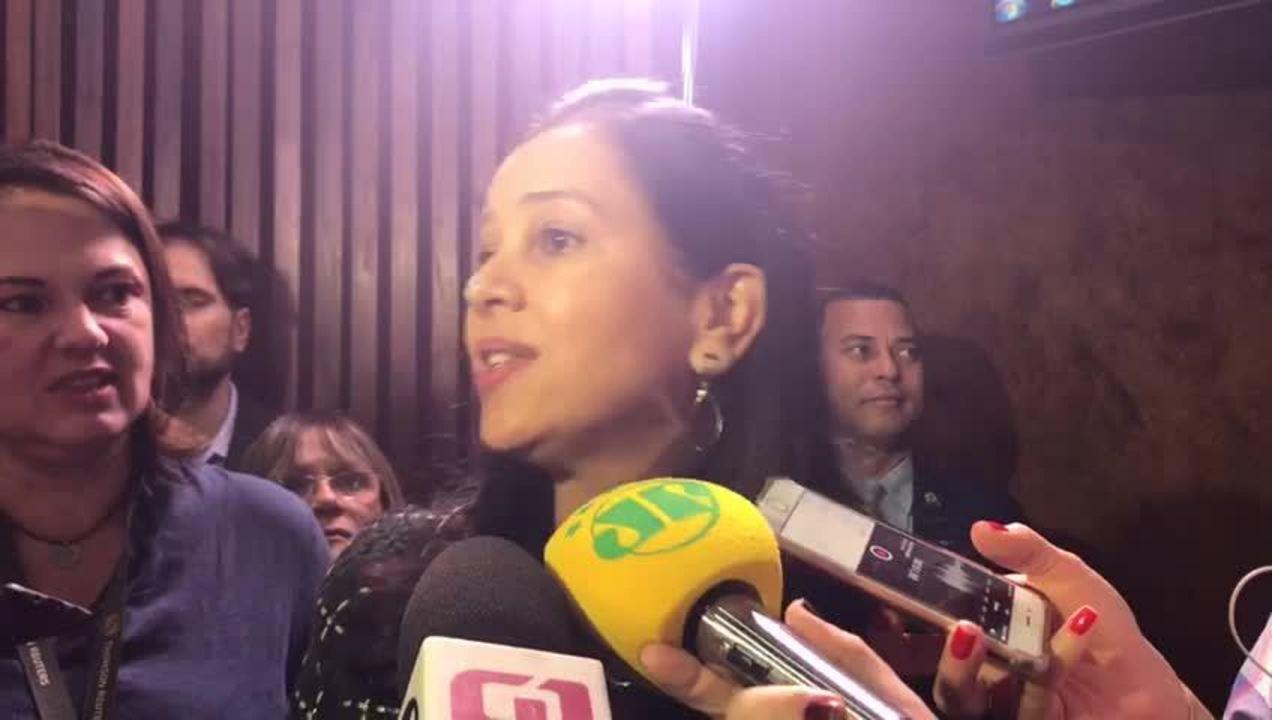 A ministra Grace Mendonça, da Advocacia Geral da União, durante evento pelo Dia da Mulher