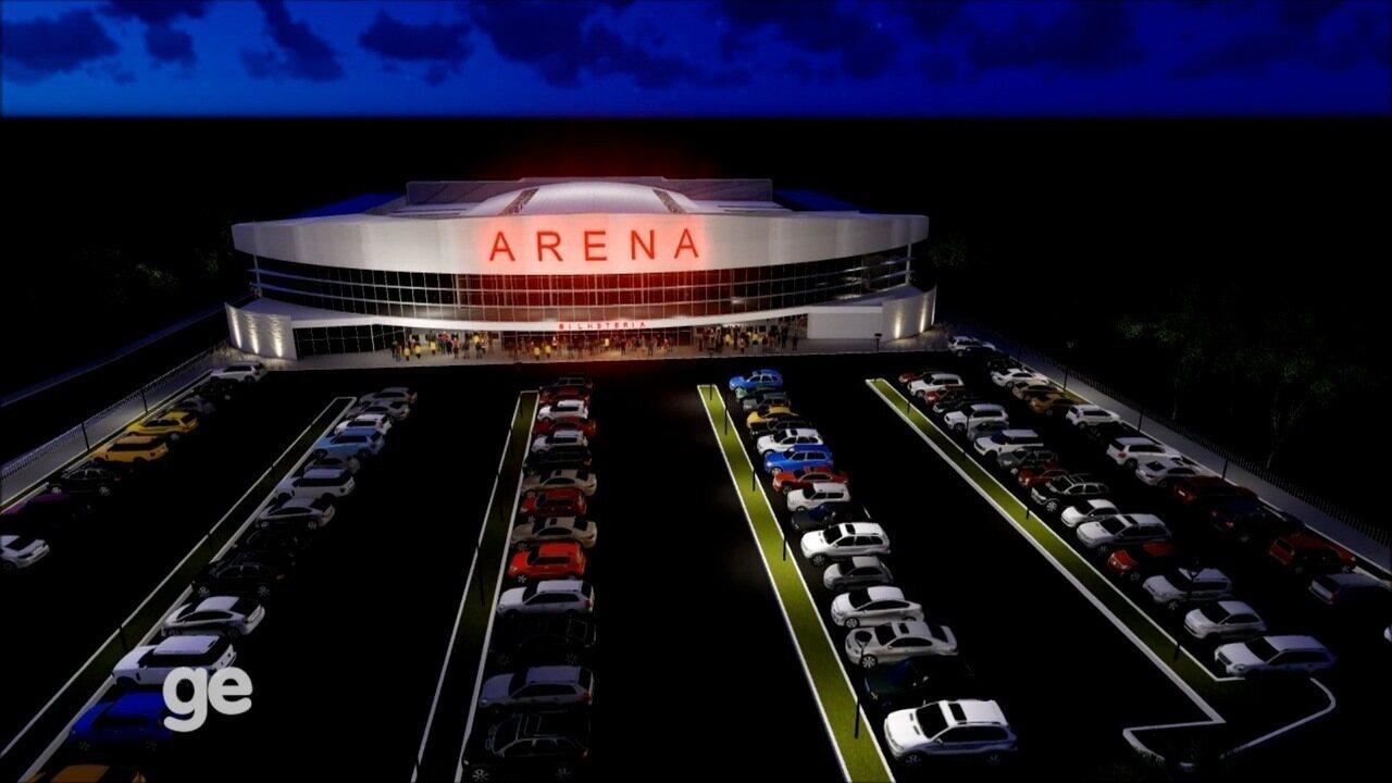 Assista ao projeto da arena multiuso em Taubaté