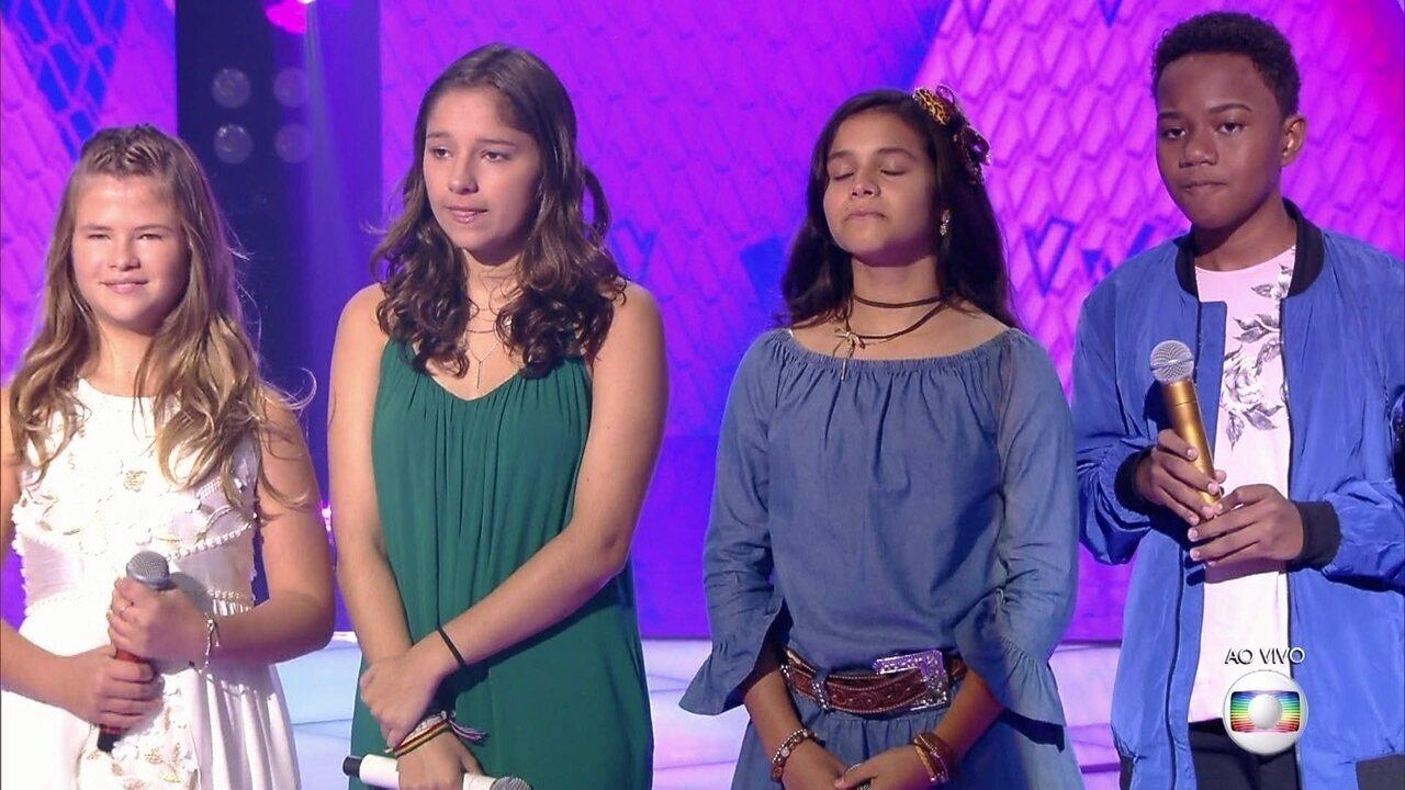 Fabiana Moneró e Fernanda Ouro seguem para a próxima fase do The Voice Kids
