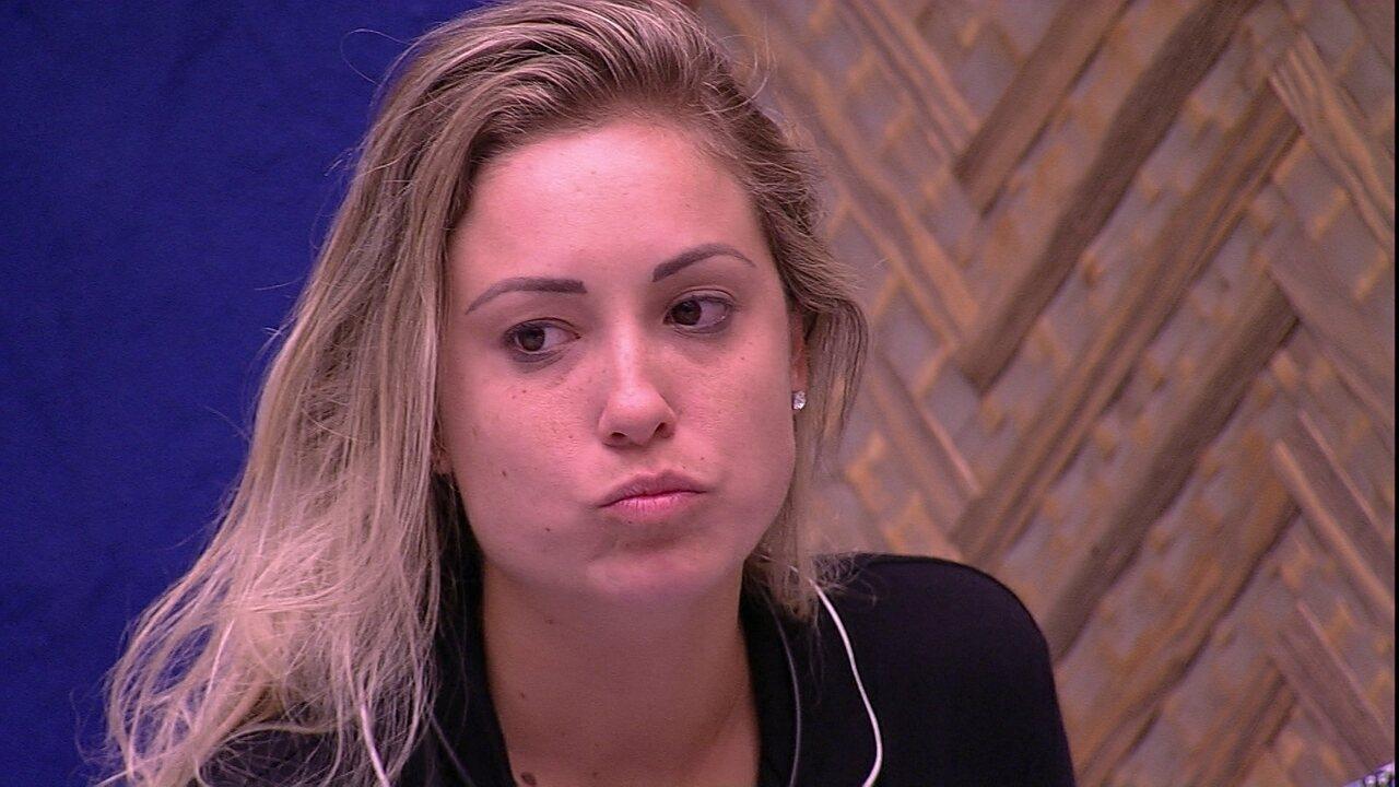 Jéssica tem medo de empate: 'Se eles pensarem no jogo, eu vou para o Paredão'