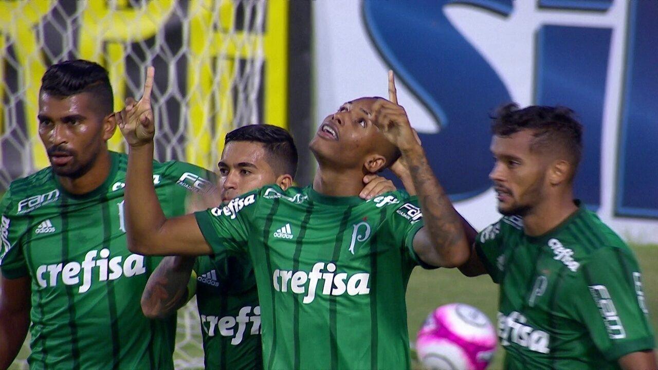 Gol do Palmeiras! Fernando se antecipa em cruzamento e marca de carrinho, aos 34' do 2ºT