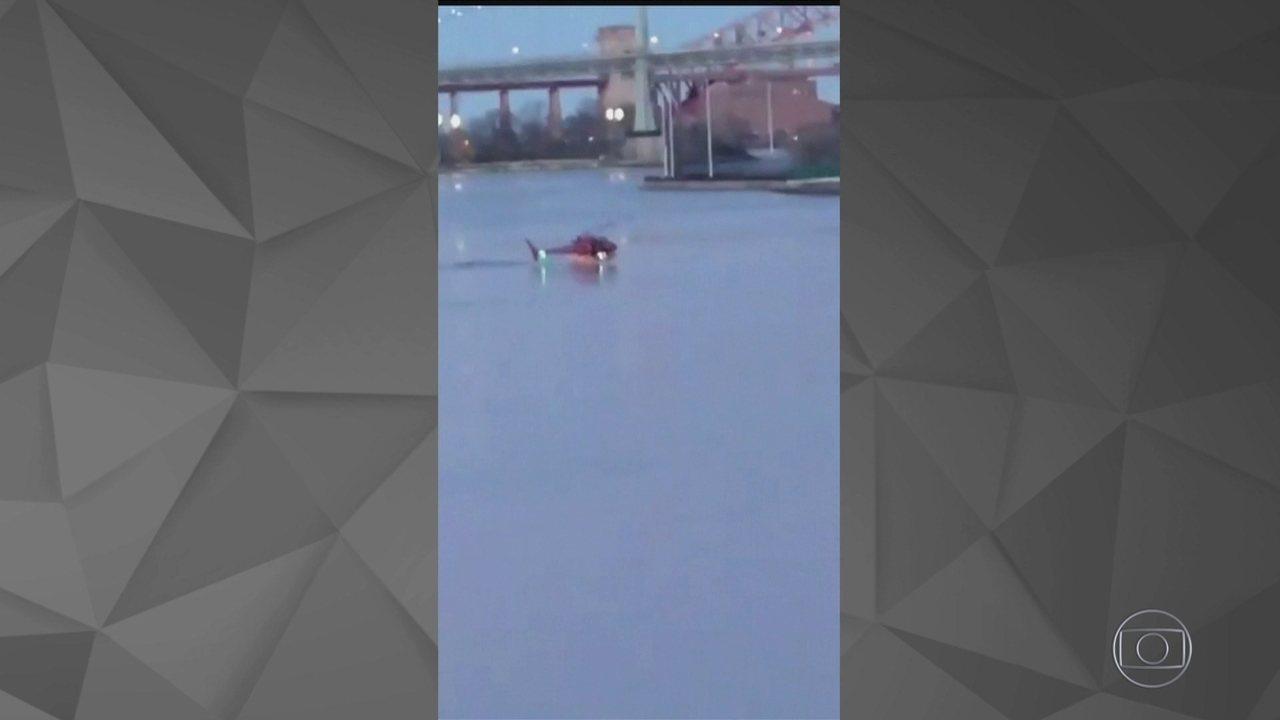 Helicóptero cai em Nova York e deixa dois mortos