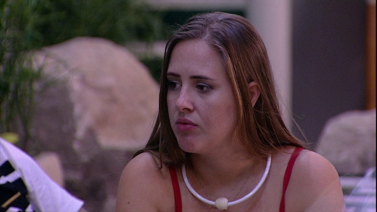 Patrícia fala sobre participante: 'Segunda vez que falou mal do Caruso para mim'