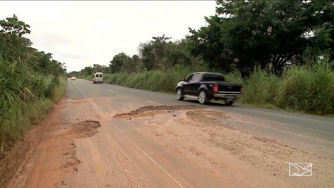 Chuva piora condição de vários trechos da BR-226 no Maranhão