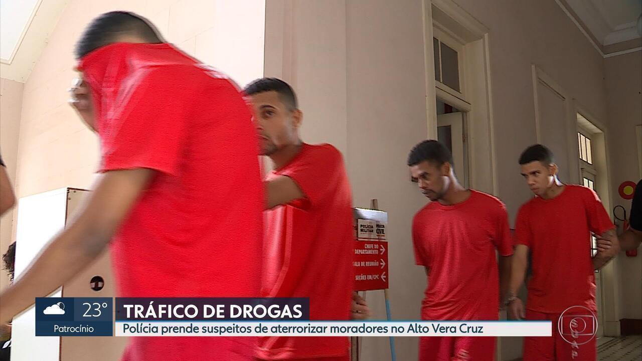 Suspeitos de tráfico no Alto Vera Cruz, em BH, são presos