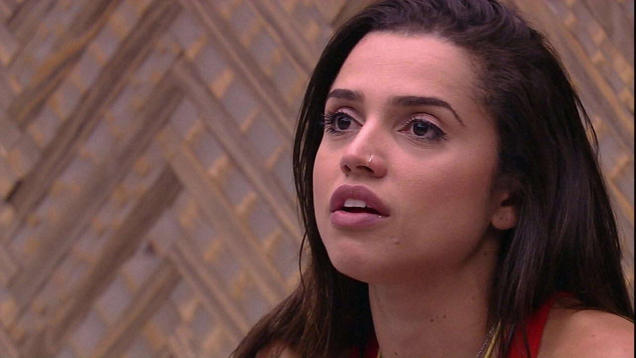 Paula opina sobre Caruso: 'Está achando que vai ganhar o programa'