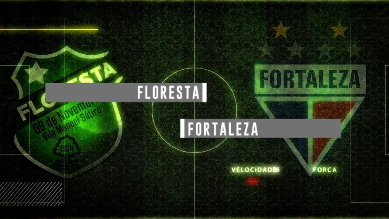 Chamada para a transmissãod e Floresta x Fortaleza pelo Campeonato Cearense