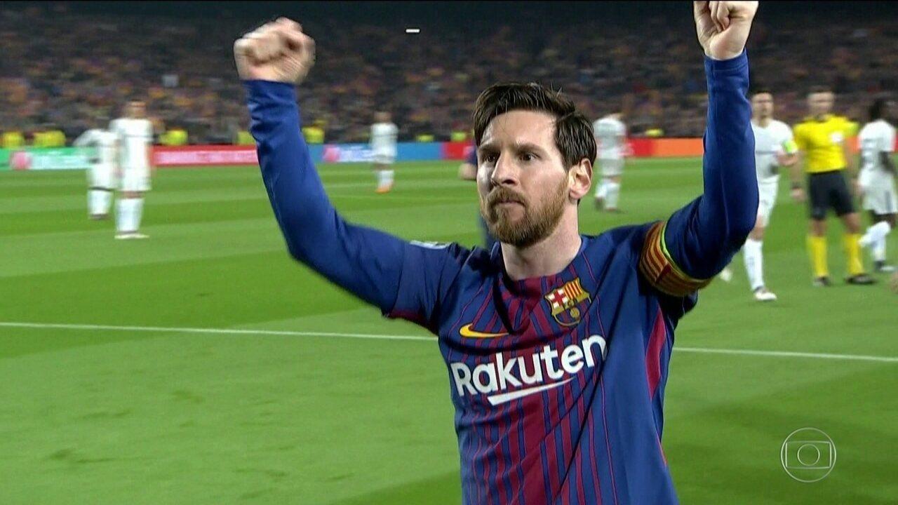 Messi comanda a classificação do Barcelona para quartas de final da Liga  dos Campeões 36bf62e0bfcc0