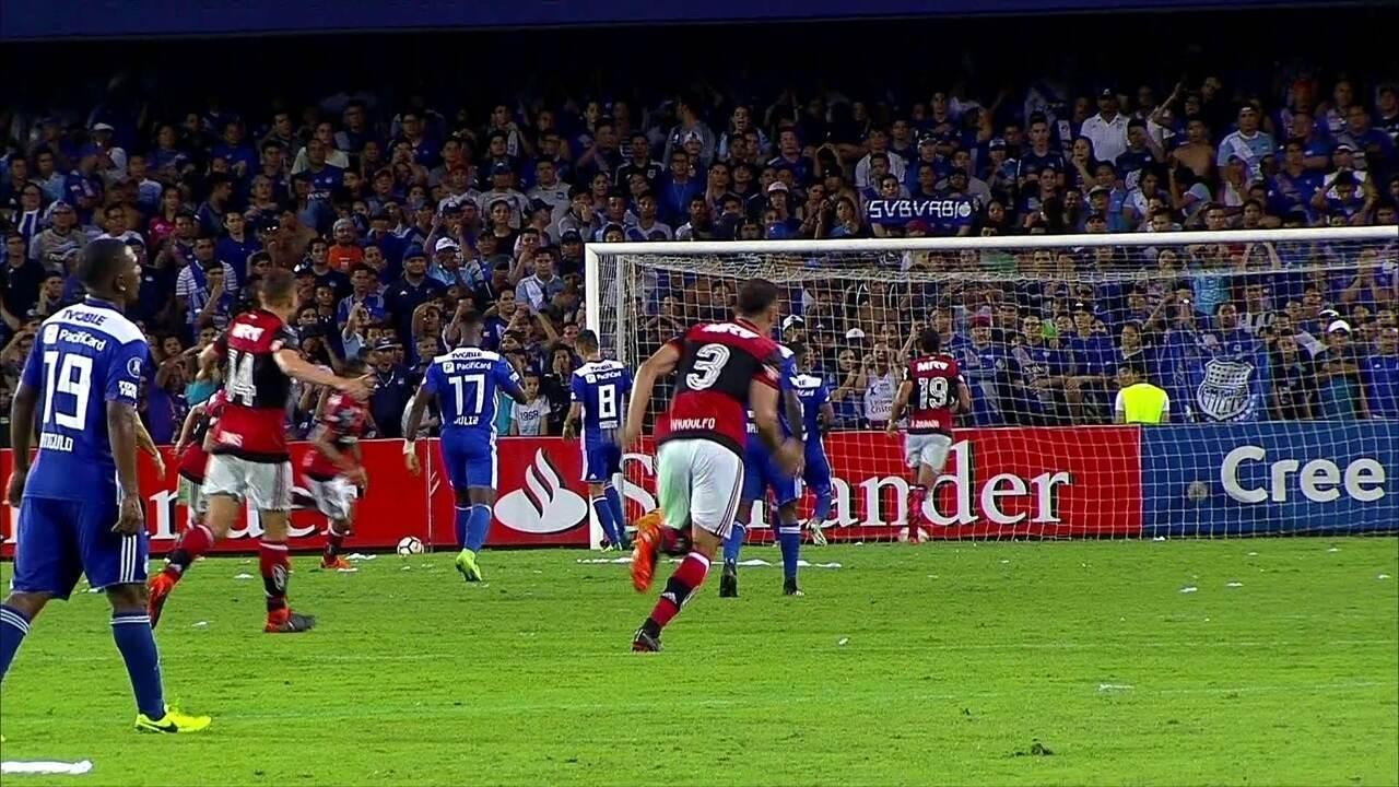Melhores momentos de Emelec 1 x 2 Flamengo pela 2ª rodada da Taça Libertadores