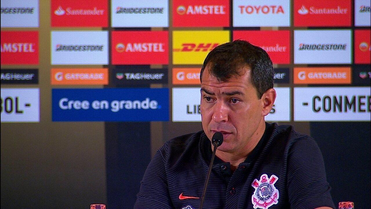 Veja a coletiva de imprensa de Sheik e Carille após a vitória contra o Deportivo Lara