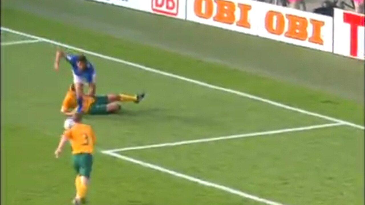 Erros de arbitragem: pênalti marcado para a Itália, em 2006
