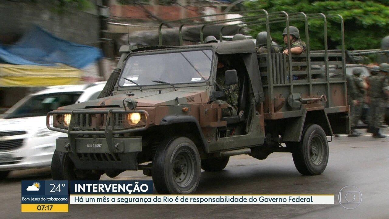 Intervenção Federal da Segurança Pública do estado do Rio completa 1 mês