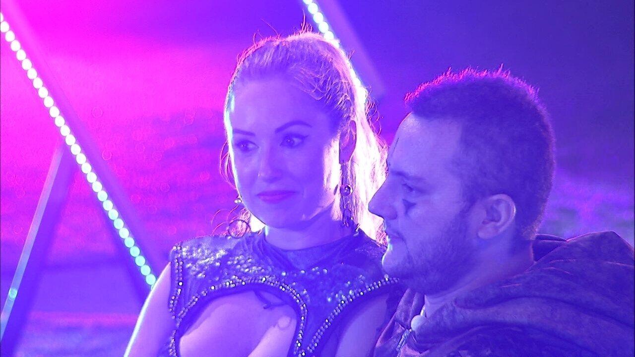 Jéssica diz a Diego: 'Não quero ir ao Paredão contigo'