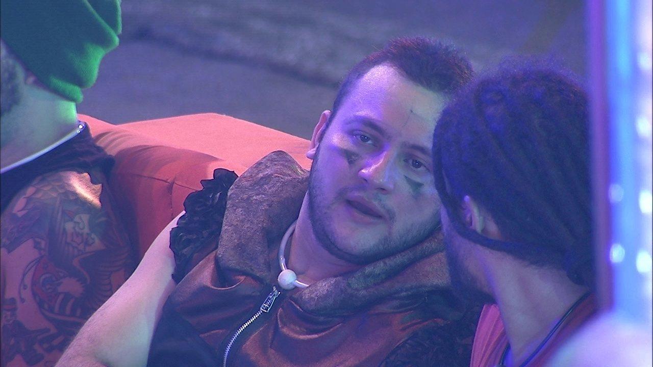 Diego diz a Viegas: 'Não quero ir para o Paredão com a Jéssica'