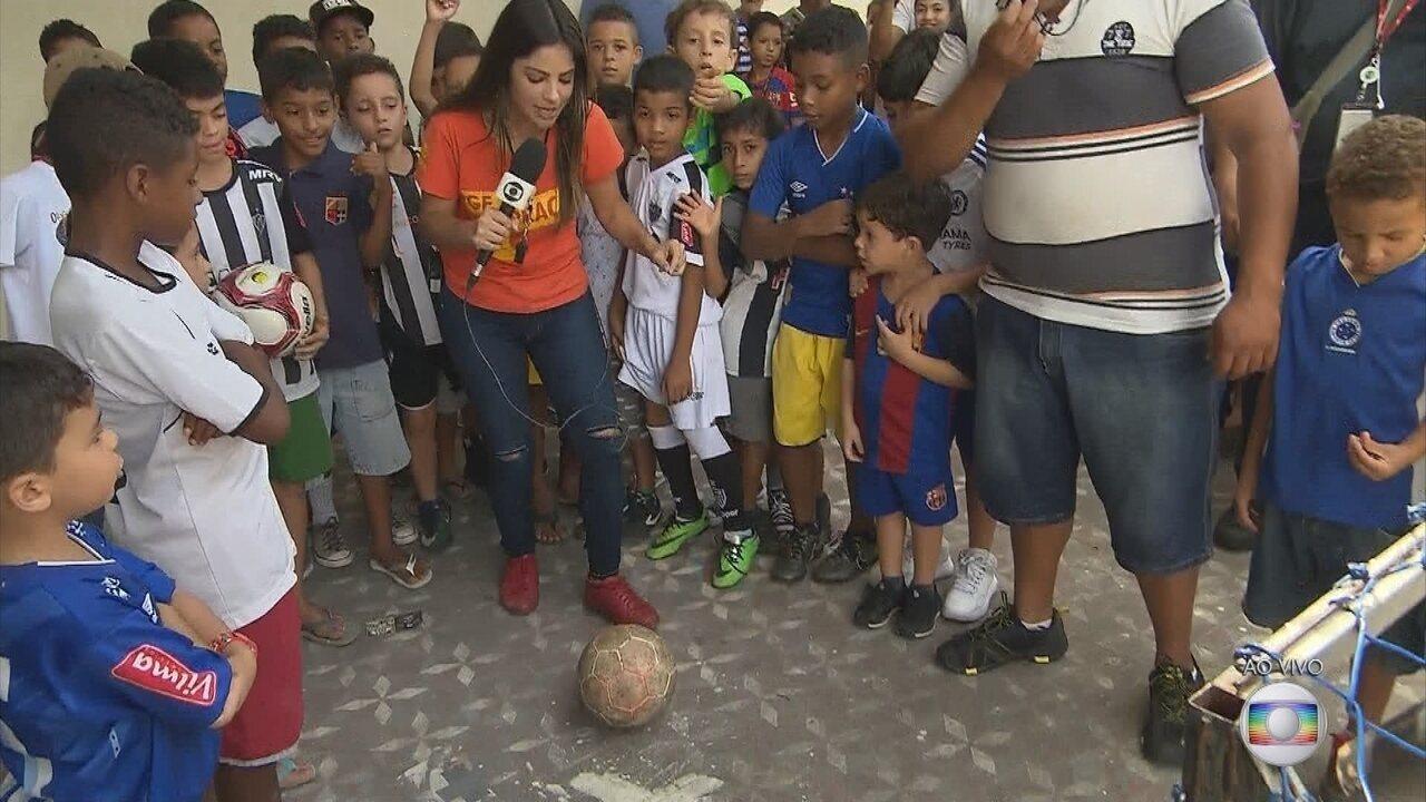 GE na Praça: Em Ribeirão das Neves, apresentadora Carina Pereira é desafiada ao vivo!