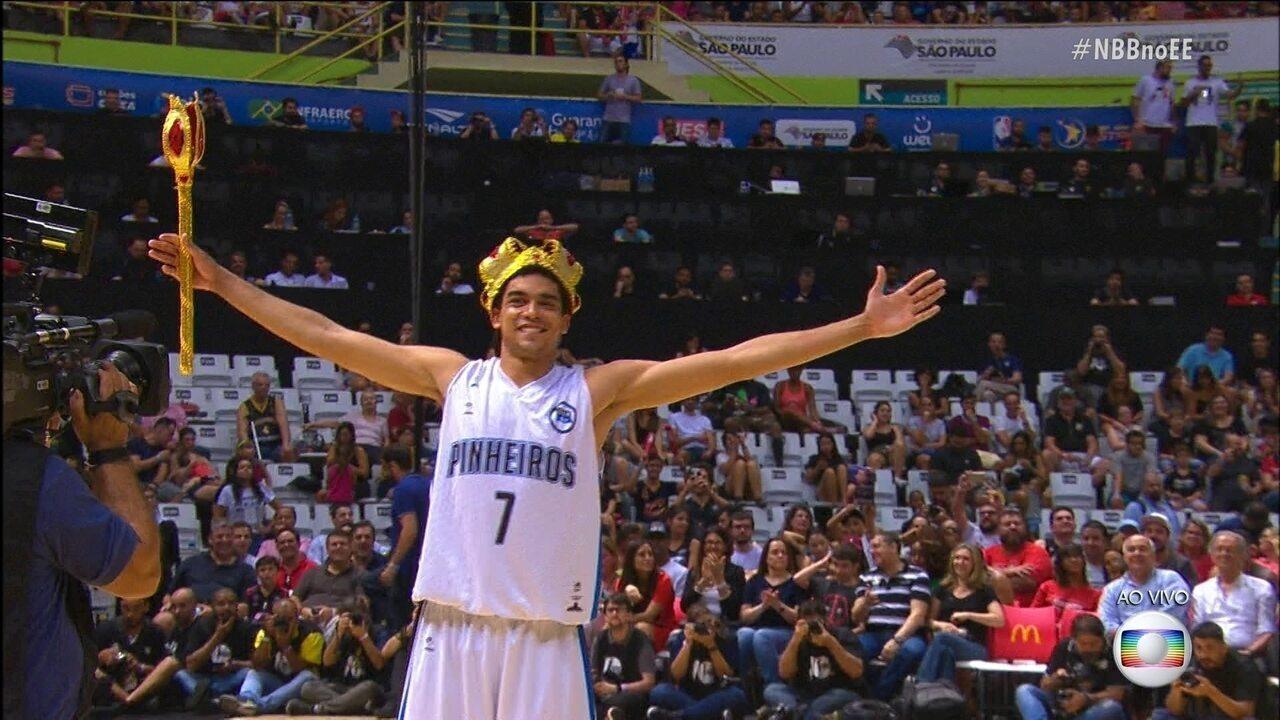 Gui Bento do Pinheiros é o grande campeão do Desafio de Enterradas do NBB