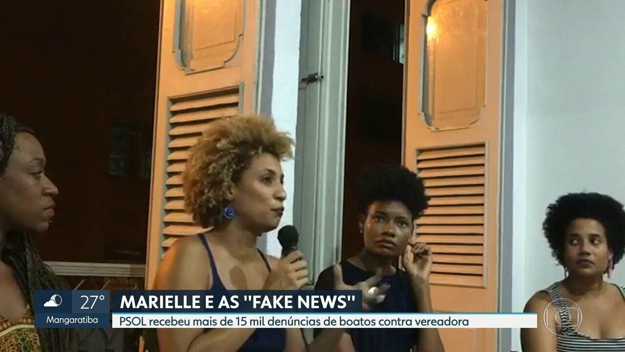 """Psol investiga uso de """"Fake News"""" contra Marielle"""