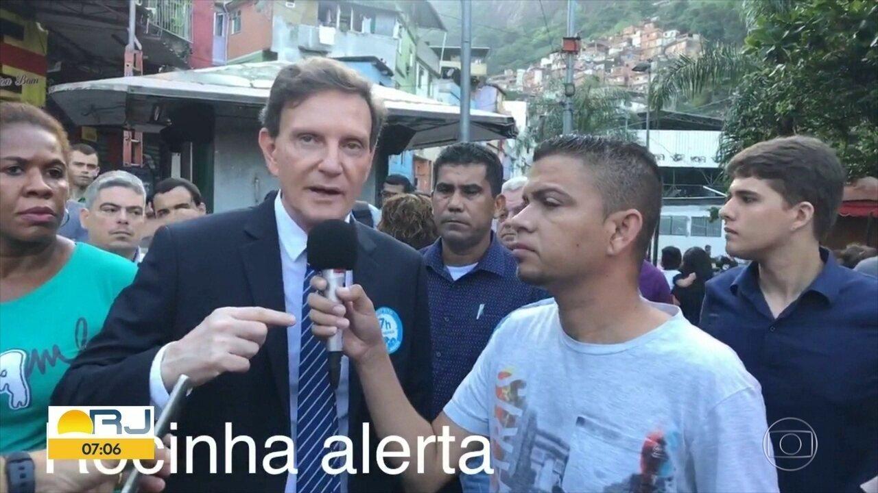 "Prefeito Marcelo Crivella diz que a Rocinha ""está muito feinha"""