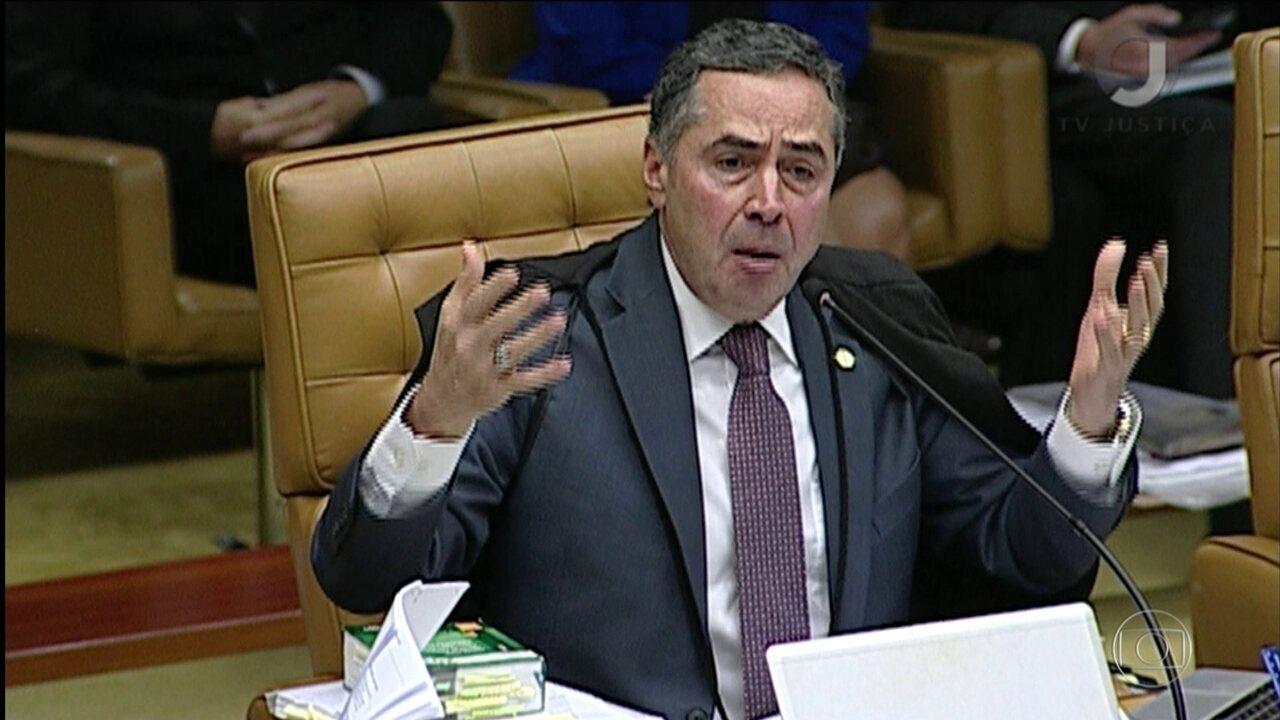 Barroso e Gilmar trocam farpas no Supremo e sessão é suspensa
