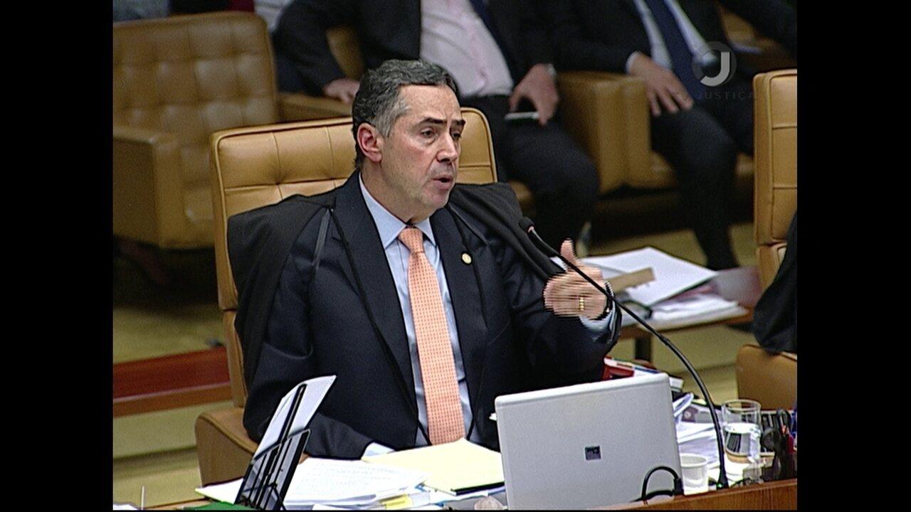 Barroso vota em julgamento de pedido de habeas corpus de Lula no STF