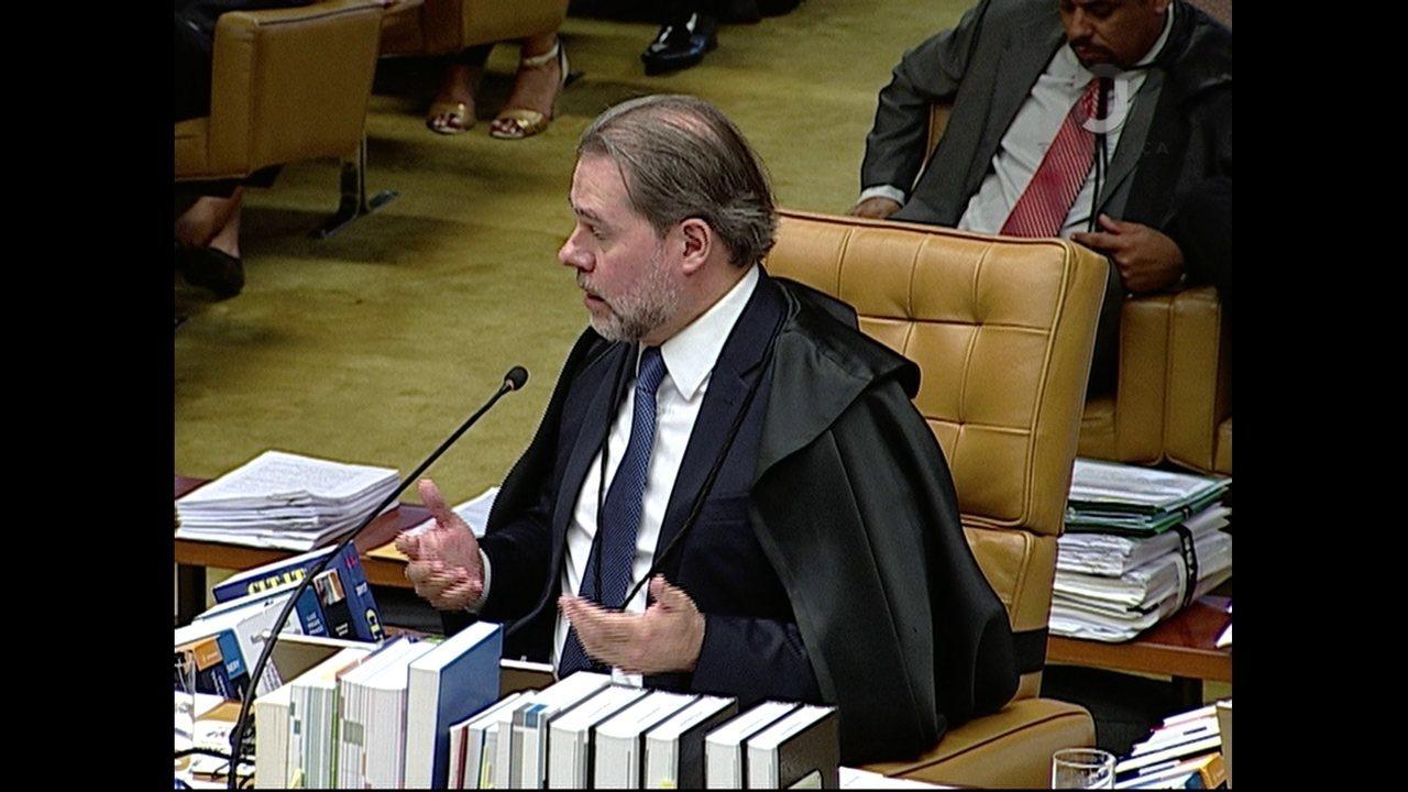 Dias Toffoli vota em julgamento de pedido de habeas corpus de Lula no STF