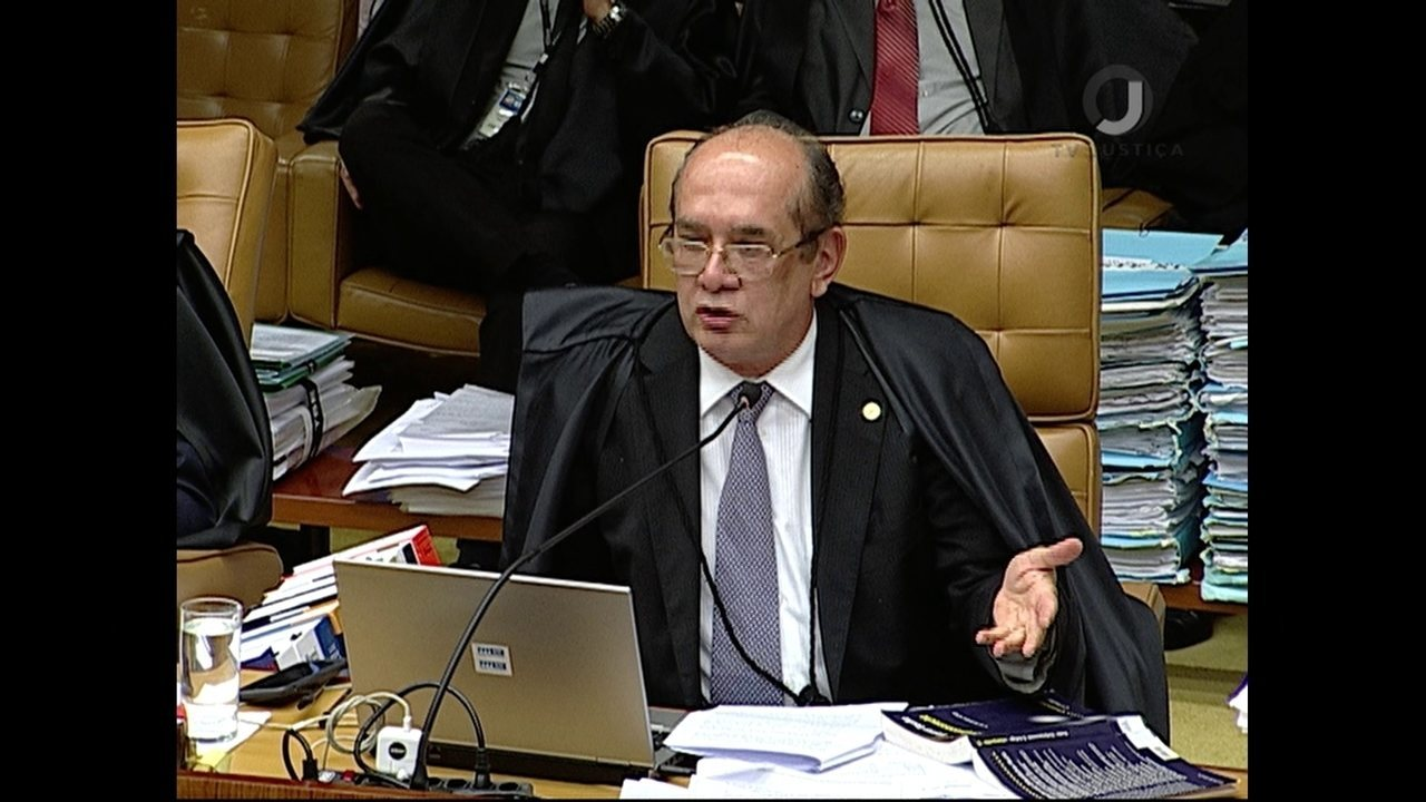 Gilmar Mendes vota em julgamento de pedido de habeas corpus de Lula no STF