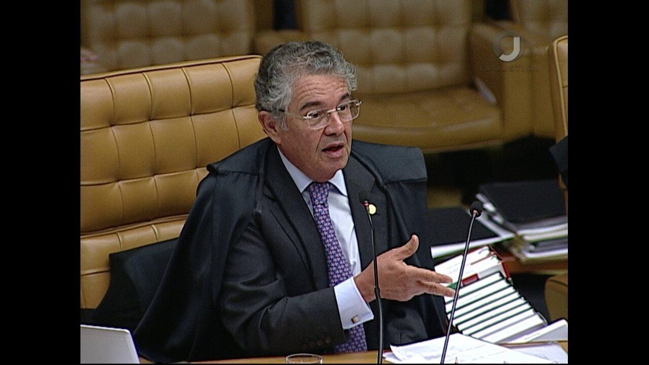 Marco Aurélio vota em julgamento de pedido de habeas corpus de Lula no STF