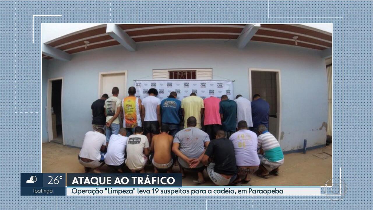 Operação prende quadrilha suspeita de tráfico de drogas em Paraopeba, em MG