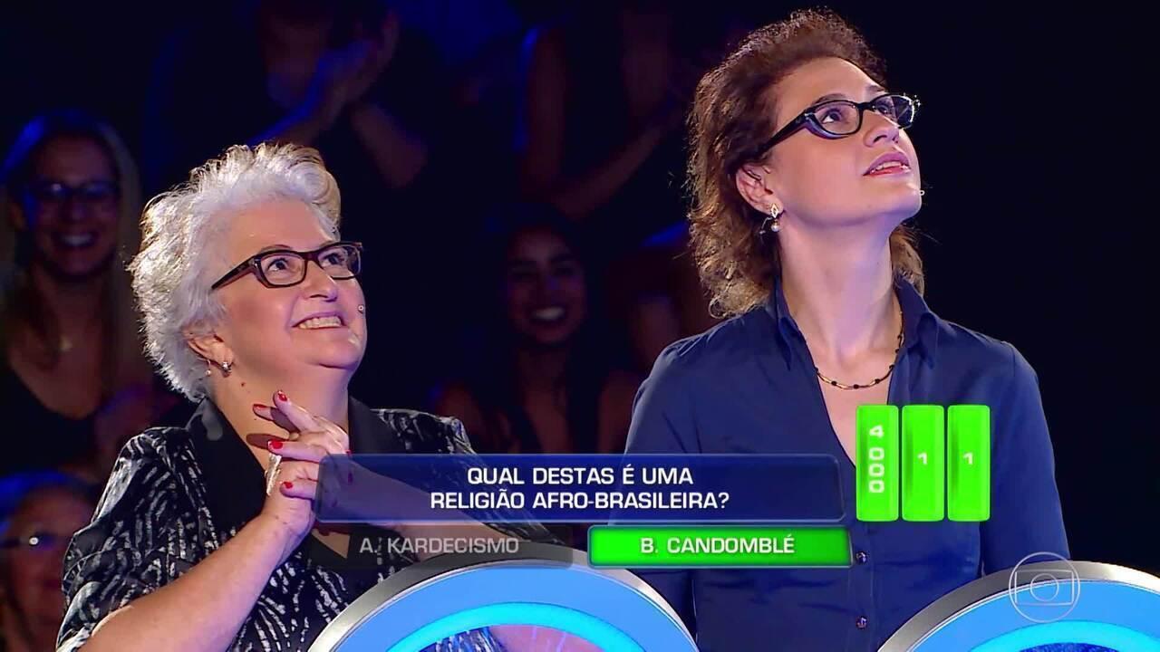 Dona Ana e Vanessa iniciam a primeira rodada no 'The Wall'