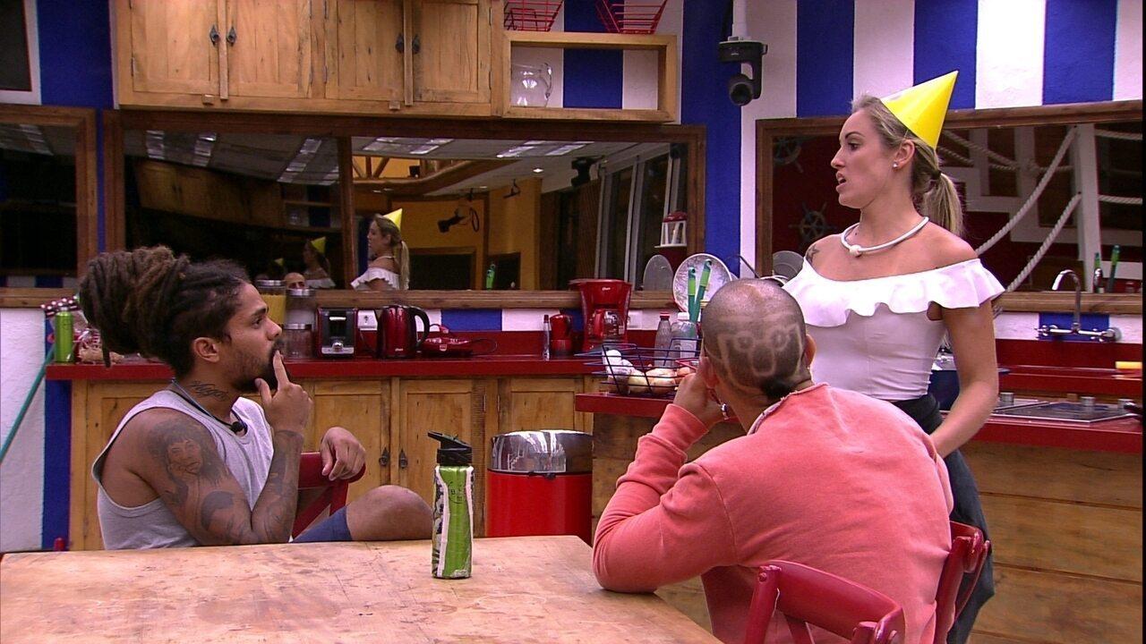 Jéssica, Viegas e Kaysar comentam comemorações de brothers nas provas